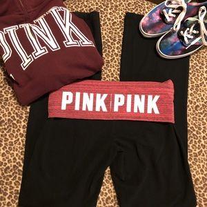 PINK Victoria's Secret fold over yoga pants